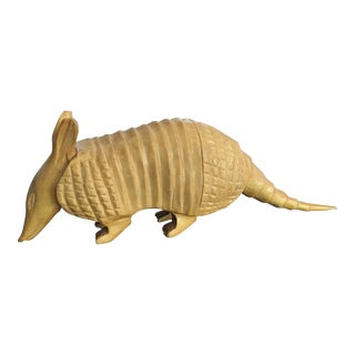 Vintage Peruvian Hand Carved Armadillo Sculpture