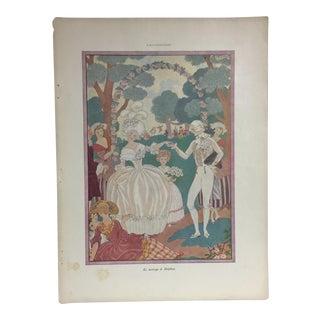 French 1940s Print Le Mariage De Delphine