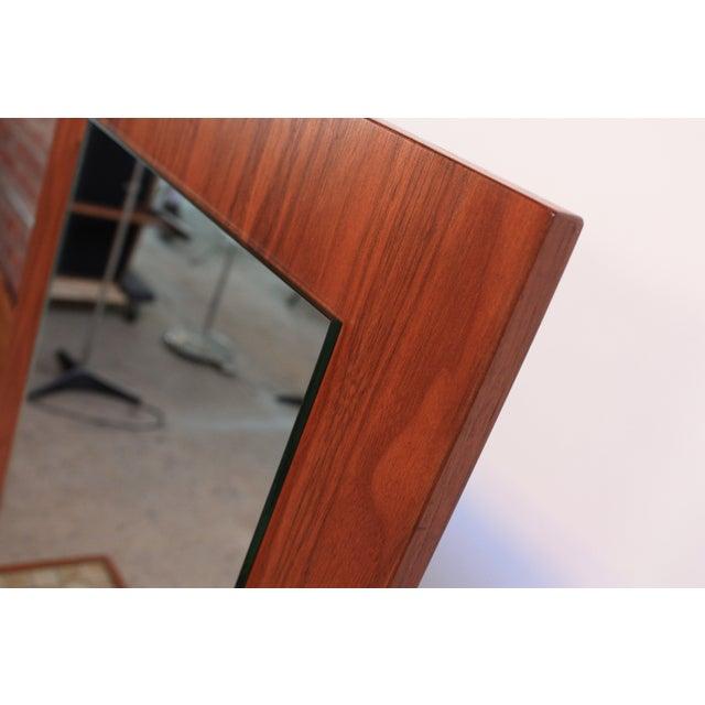 American Modern Walnut Mirror - Image 4 of 7