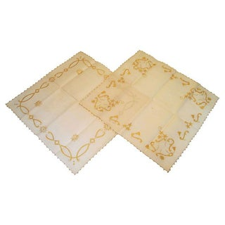 Handcrafted Italian Table Squares - A Pair