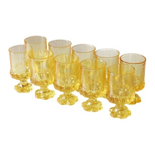 Franciscan Madeira Yellow Goblets - Set of 10