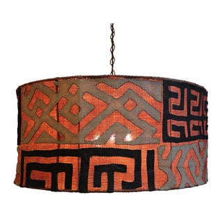 Kuba Cloth Drum Shaped Chandelier