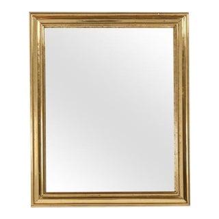 French Brass Framed Bistro Mirror