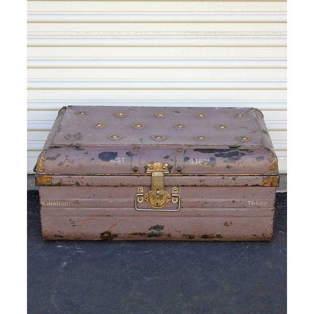 Image of 1950s Pink Iron Traveler's Trunk