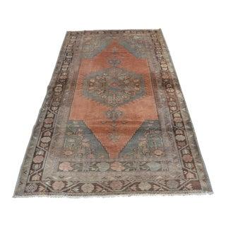 Tribal Oushak Carpet - 3′10″ × 7′3″