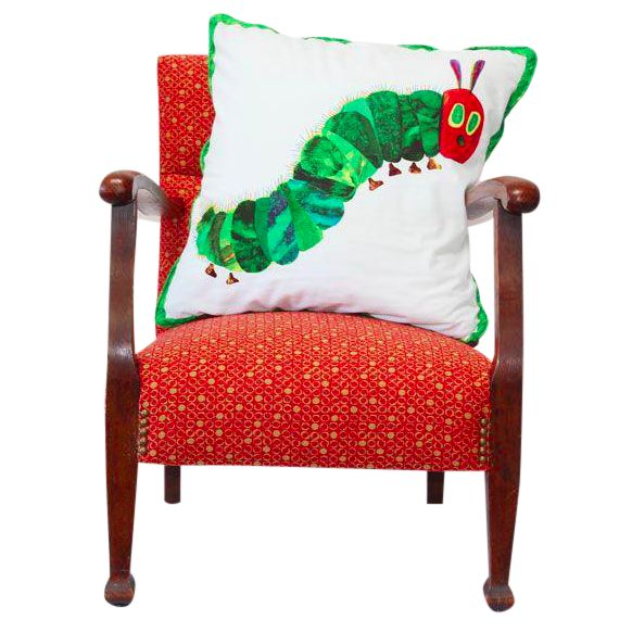 Kid's Red Armchair & Hungy Caterpillar Pillow - Image 1 of 6