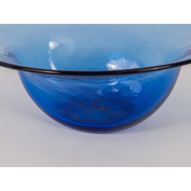 Dimpled Blenko Glass Bowl - Image 6 of 9