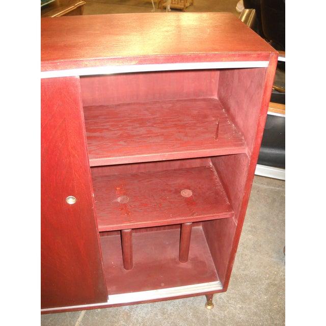 Vintage Midcentury Modern Record Cabinet - Image 5 of 11