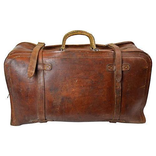 Vintage Leather Travel Bag - Image 1 of 6