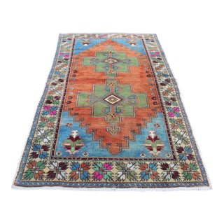 Handmade Tribal Turkish Rug - 4′5″ × 8′