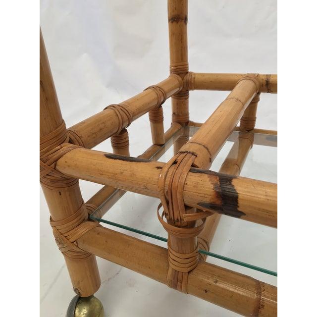 Vintage Bamboo Bar Cart - Image 4 of 5