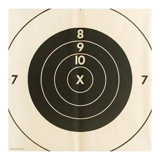 Vintage Extra-Large Bullseye Target Poster