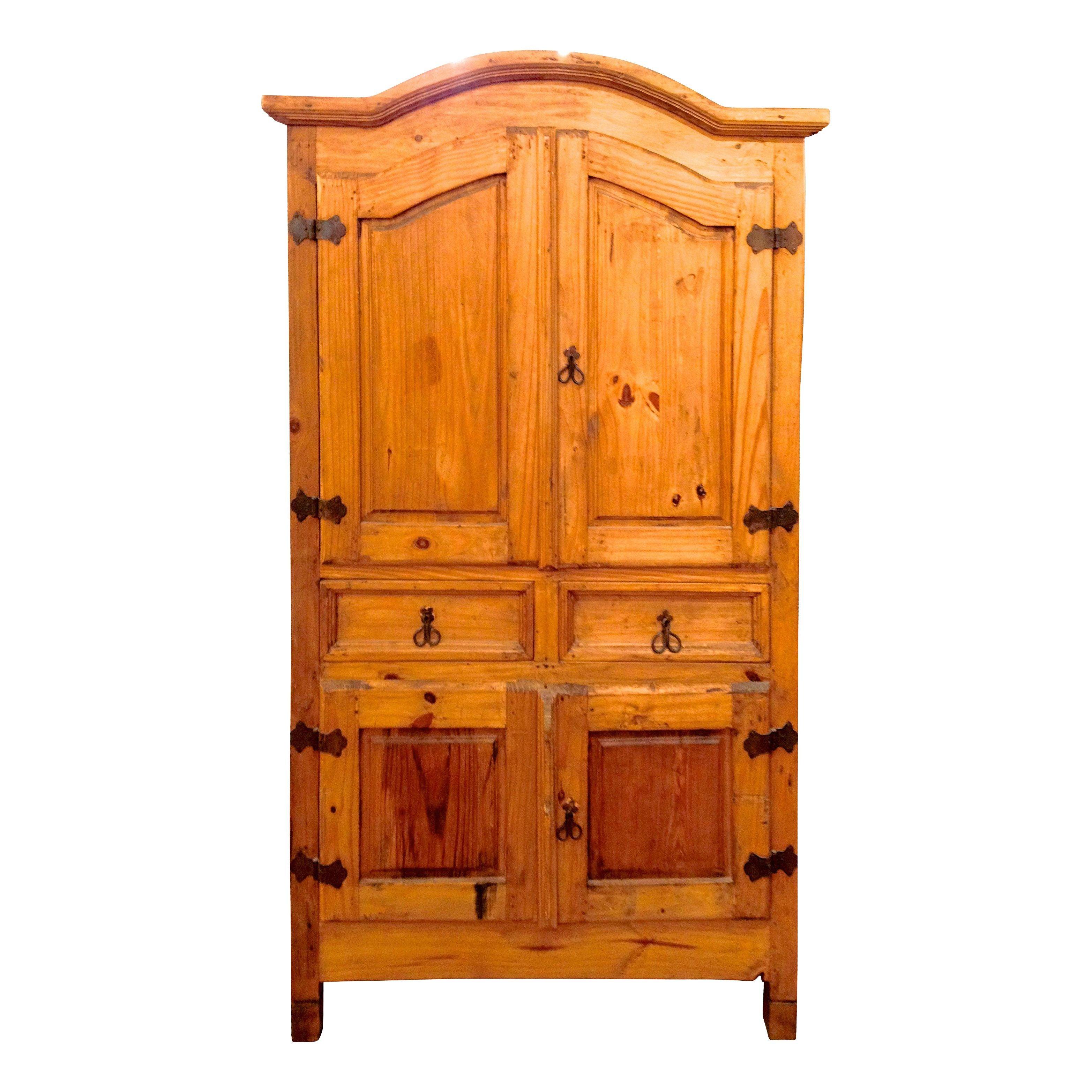 rustic pine armoire chairish