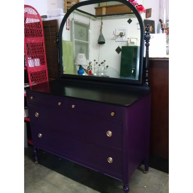1950s Vintage Dresser With Mirror - Image 9 of 10