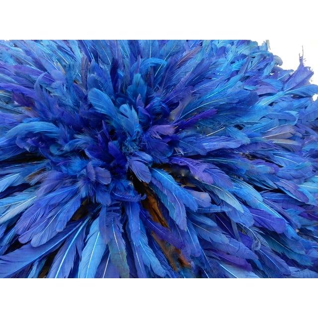 Juju Hat Cobalt Blue African Wall Hanging - Image 4 of 6