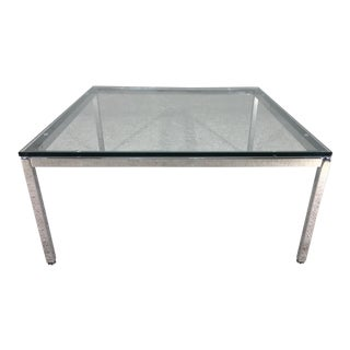 Florence Knoll for Knoll International Chrome and Glass Cocktail Table