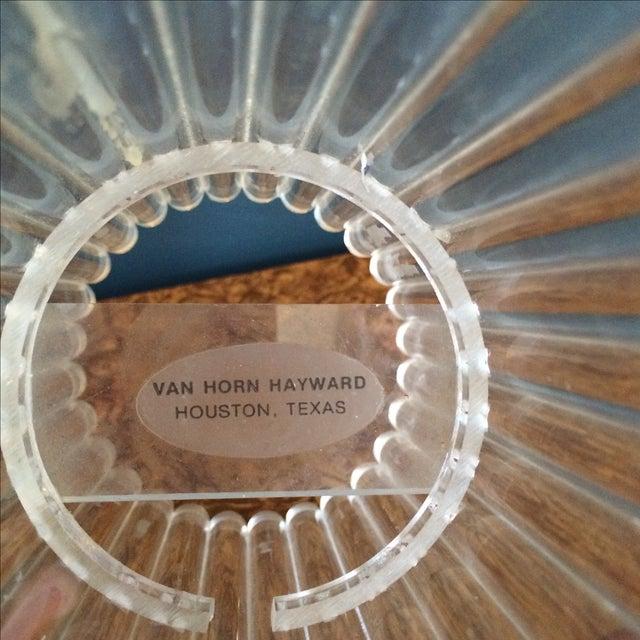 Van Horn Hayward Lucite Candle Holder or Vase - Image 6 of 6