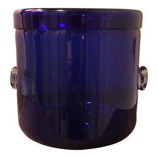 Blenko Cobalt Blue Glass Ice Bucket
