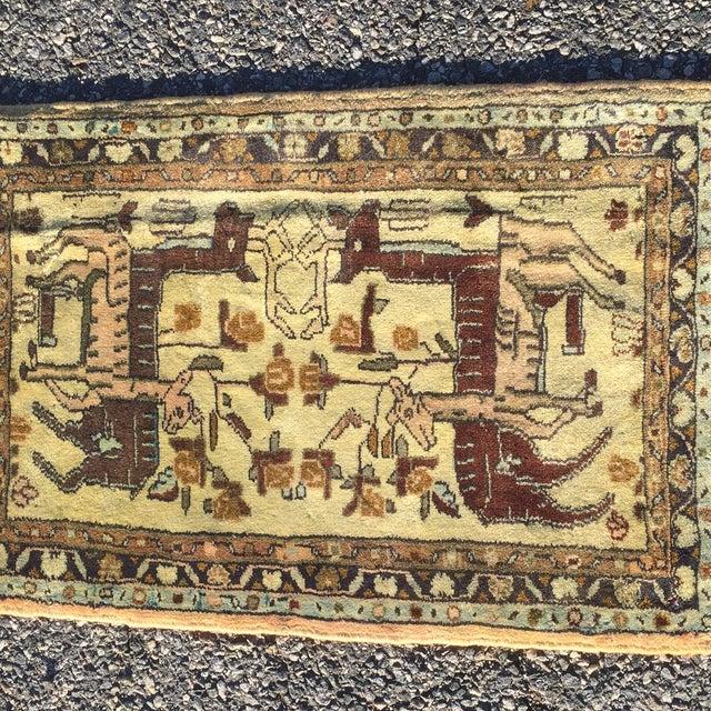 "Vintage Liliahan Persian Rug - 1'10"" X 2'9"" - Image 3 of 7"