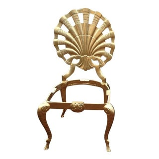 Gold Venetian Shell Back Grotto Chair
