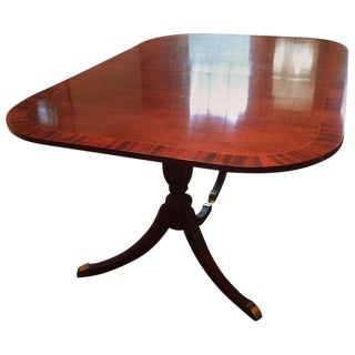 Very Large Double Pedestal Mahogany Dining Table