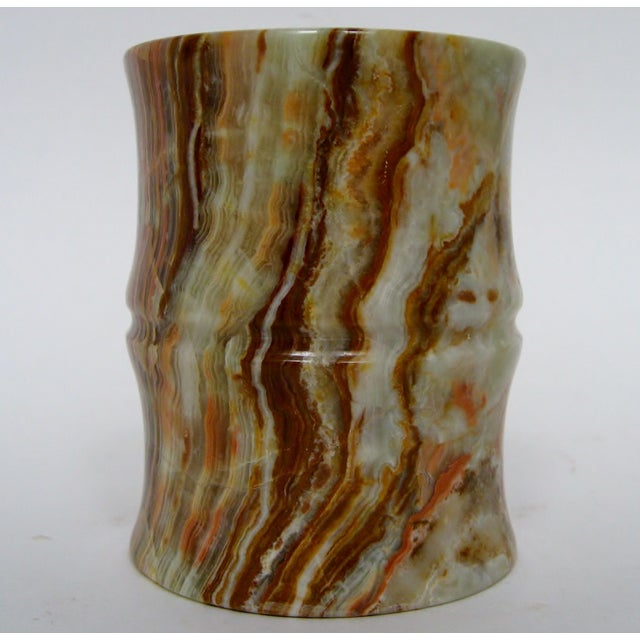 Carved Agate Pen Holder - Image 4 of 8