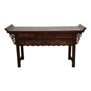 19th Century Antique Chinese Altar Console Table