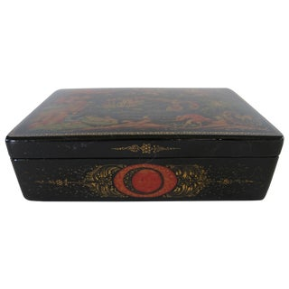 Russian Lacquered Hinged Box