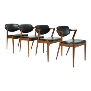Kai Kristiansen Danish Modern Model No. 42 Teak Dining Chairs - Set of 4