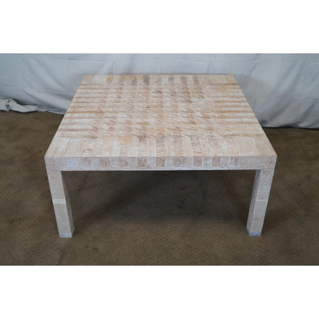 Jonathan Charles Houndstooth Parsons Coffee Table - Image 2 of 10