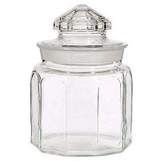 1950s Round Glass Jar