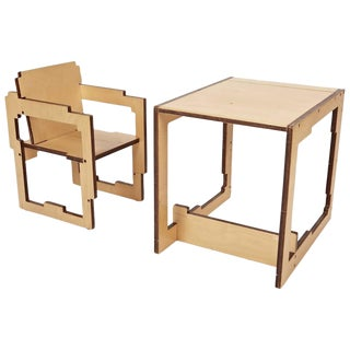 Danish Modern Kid's Convertible High-Chair & Table