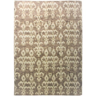 "Hand Knotted Ikat Rug - 8'11"" x 12'"