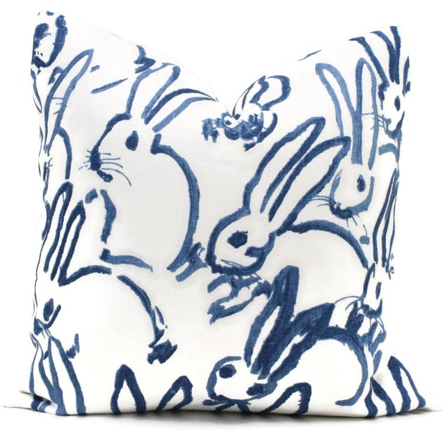 Lee Jofa Groundworks Hutch Blue Bunny Pillow - Image 2 of 5