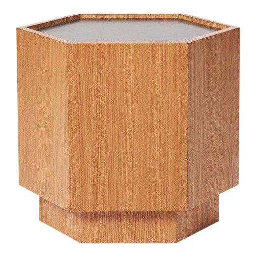 Sabin Oak Hexagon Vallejo Table - Image 1 of 5