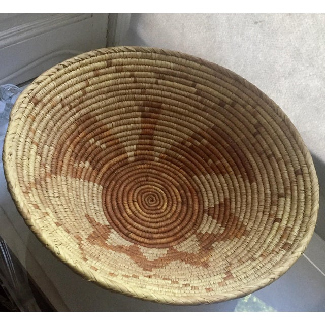 Vintage Native American Apache Pima Coil Basket - Image 3 of 11
