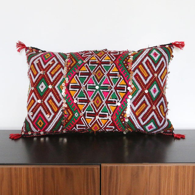 Handcrafted Moroccan Kilim Pillow IV - Image 2 of 6
