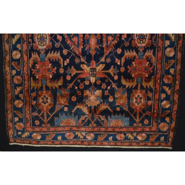 "Navy & Peach Antique Persian Rug - 4'4"" x 6'8"" - Image 6 of 6"