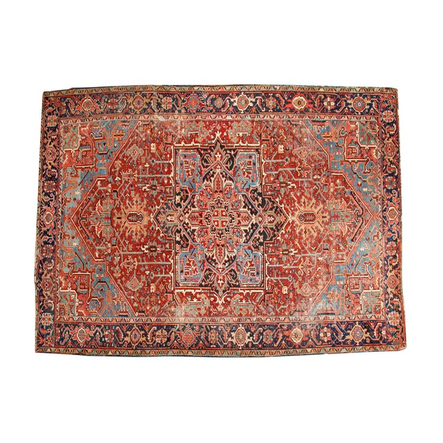 "Antique Heriz Carpet - 8'5"" X 11'3"" - Image 1 of 7"
