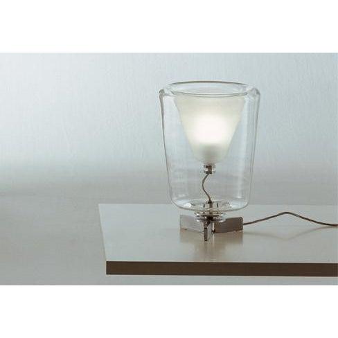 Transparent Oluce Lanterna Murano Glass Table Lamp - Image 6 of 6