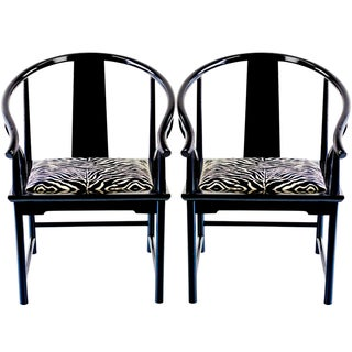 Pair of Modern Ming Chairs by Baker