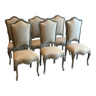 French Dining Chairs in Style of Louis XVI - Set of 6