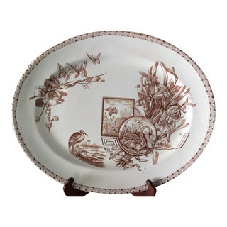 Brown & White Platter E. & C. Challinor, Wolseley