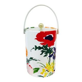 Vintage Retro Multi Colored Floral Ice Bucket