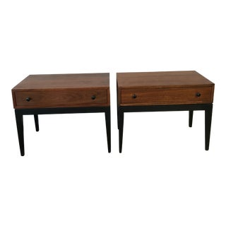 Harvey Probber Walnut Nightstands - Pair