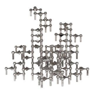 Fritz Nagel & Caesar Stoffi Modular Candlestick Sculpture - Set of 58