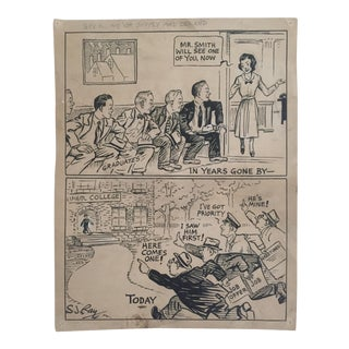 Original Signed 1930's Comic Art by S.J. Ray