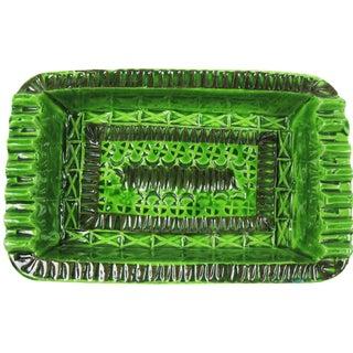 Signed Green Bitossi Soap Dish Ashtray
