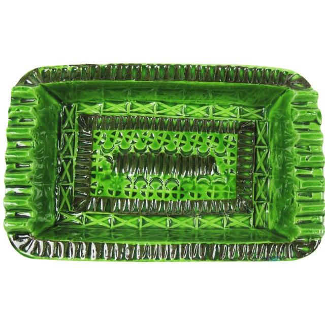 Signed Green Bitossi Soap Dish Ashtray - Image 1 of 4