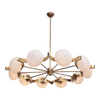 Stunning Murano Glass and Brass Chandelier